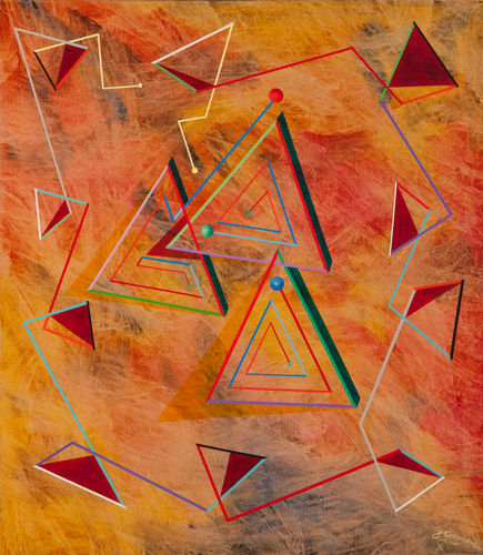 Dance of Triangles 70 x 80 cm